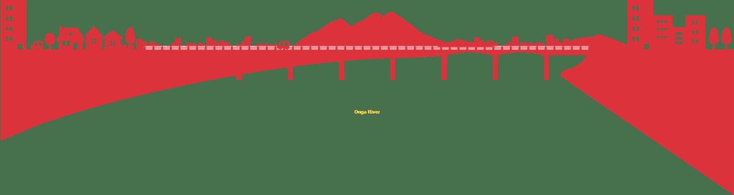 飯塚市の風景イラスト